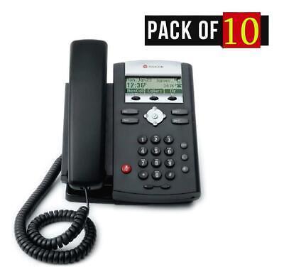 Lot Of 10 Polycom Soundpoint Ip 321 Poe Desktop Business Phone 2314-12360-001