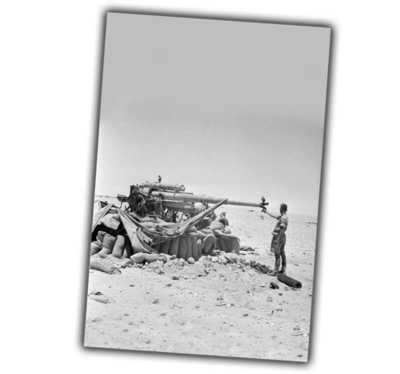 "War Photo A German 88mm anti-tank gun captured and destroyed ""4 x 6"" inch α"