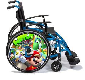 Sedia a rotelle raggi protezioni skins in vinile for Sedia design ebay