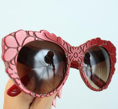 DOLCE & GABBANA Floral Cat Eye Sunglasses Mama's Brocade Authentic New