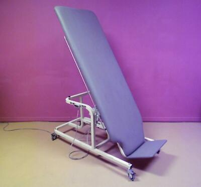 Hausmann Electric Tilt Physical Therapy Table Stander Walk Off Footplate