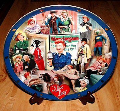 "LUCILLE BALL I Love Lucy DANBURY MINT Test Market Collector's 12"" Plate - RARE!"
