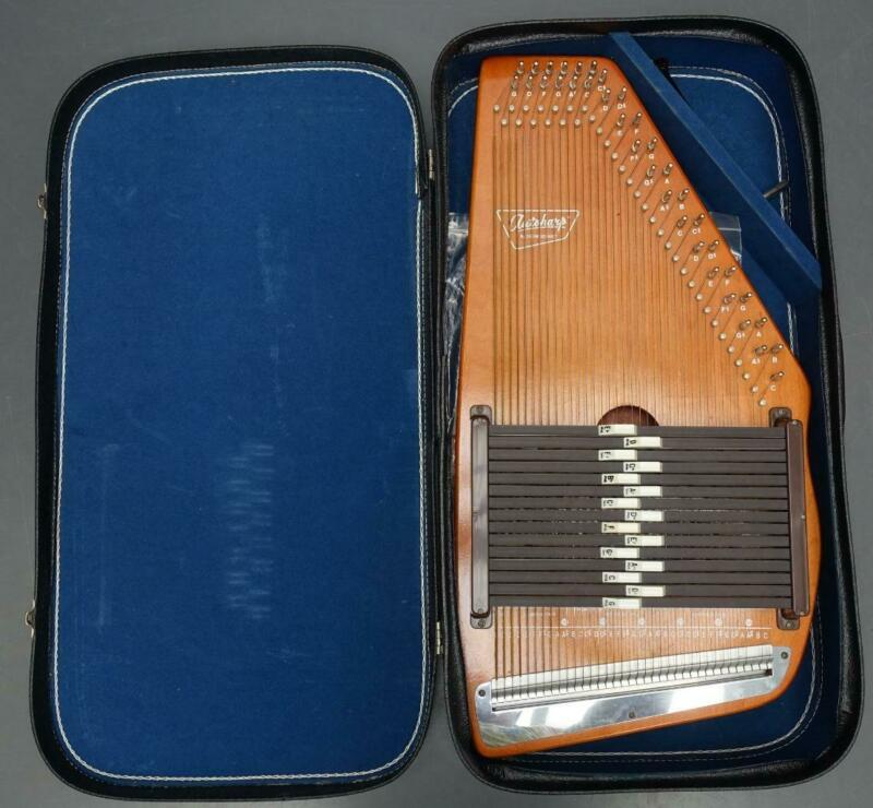 Vintage Oscar Schmidt Autoharp 36 String 15 Chords w/ Hard Shelled Gig Case