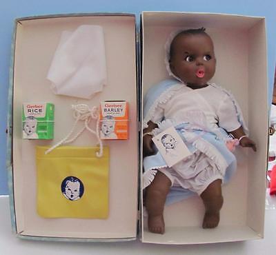 "GERBER Baby Doll 1979 MIB Mint in Box Suitcase 17"", Black / AA, Atlanta Novelty"