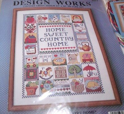 """Design Works HOME SWEET COUNTRY HOME Hard to Find 14"""" x 18"""""""