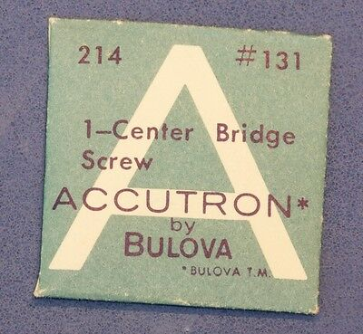 Bulova Accutron 214 Center Bridge Screw Vintage Accutron 214 Part 131 Spaceview