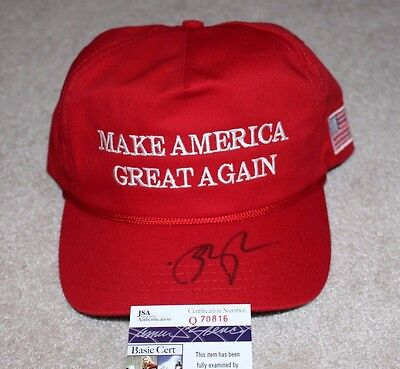 Vice President Mike Pence Signed Make America Great Again Hat Jsa Donald Trump 1
