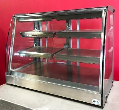 Vendo Hfd00006 3-tier Countertop Heated Hot Food Display Case Glass Merchandiser