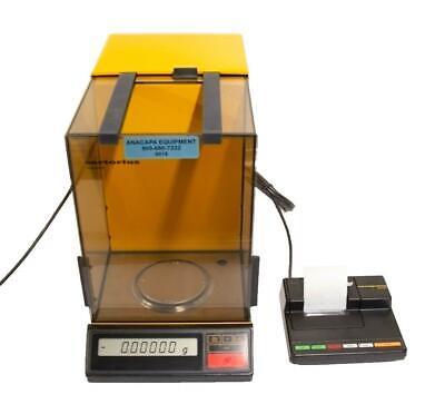 Sartorius R200d-v20 Analytical Balance Digital Scale W Glass Shield Used 9016r