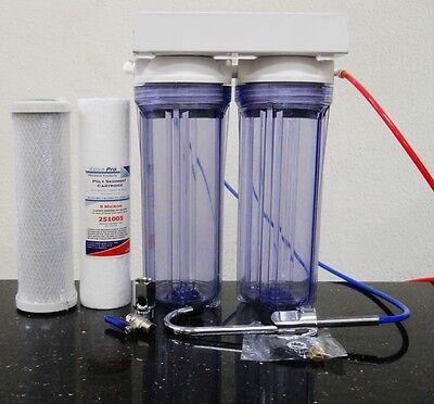 فلتر مياه جديد Premier Under Counter Dual Water Filter Drinking Water System Carbon Sediment
