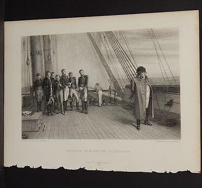 Napoleon On Board The Bellerophon  Steel Engravings Selmar Hess 1888 I2 98