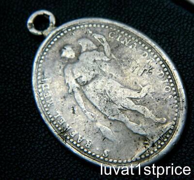 MEXICO 1806 RARE ST.JUAN de DIOS & ST. RAFAEL Sterling Silver Medal E.GORDILLO