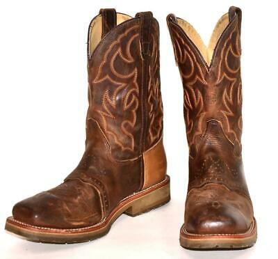 Double-H DWIGHT Steel Toe Square I.C.E Roper Leather Cowboy Western Boots 10.5 D