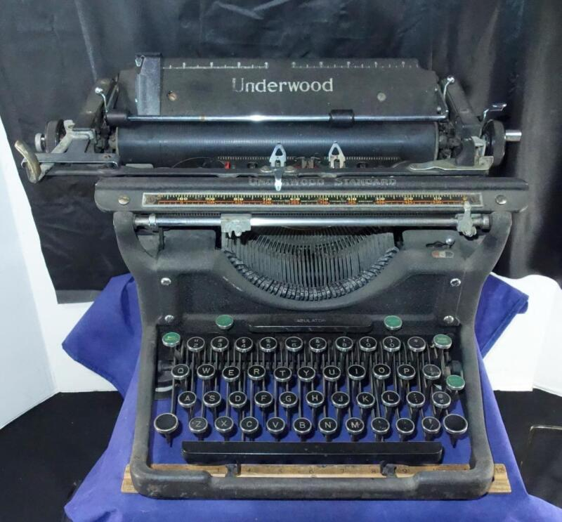 Antique Underwood Typewriter Textured Finish Industrial Steampunk Possibly No. 6