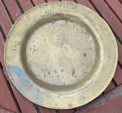 Antique Original German Handcrafted Ari Kv 1500 Repro Roman Markings Brass Plate