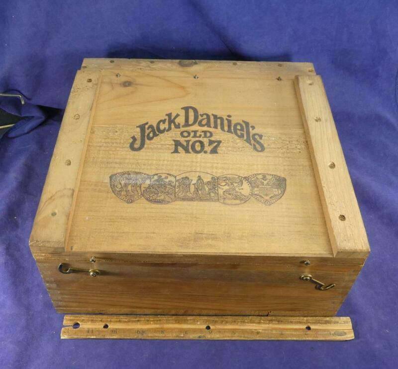 Vintage Jack Daniels Old No.7 Whiskey Dovetail Crate Wooden Box Tennessee !
