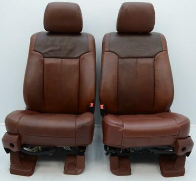 2011 - 2016 FORD F250 F350 SUPER DUTY OEM FRONT KING RANCH LEATHER SEATS 99-16