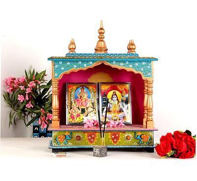 Разное Wooden Hand Painted Hindu Temple