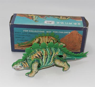 älterer Blic Aufzieh Blech Dinosaurier, Stegosaurus, Made in China  #G402
