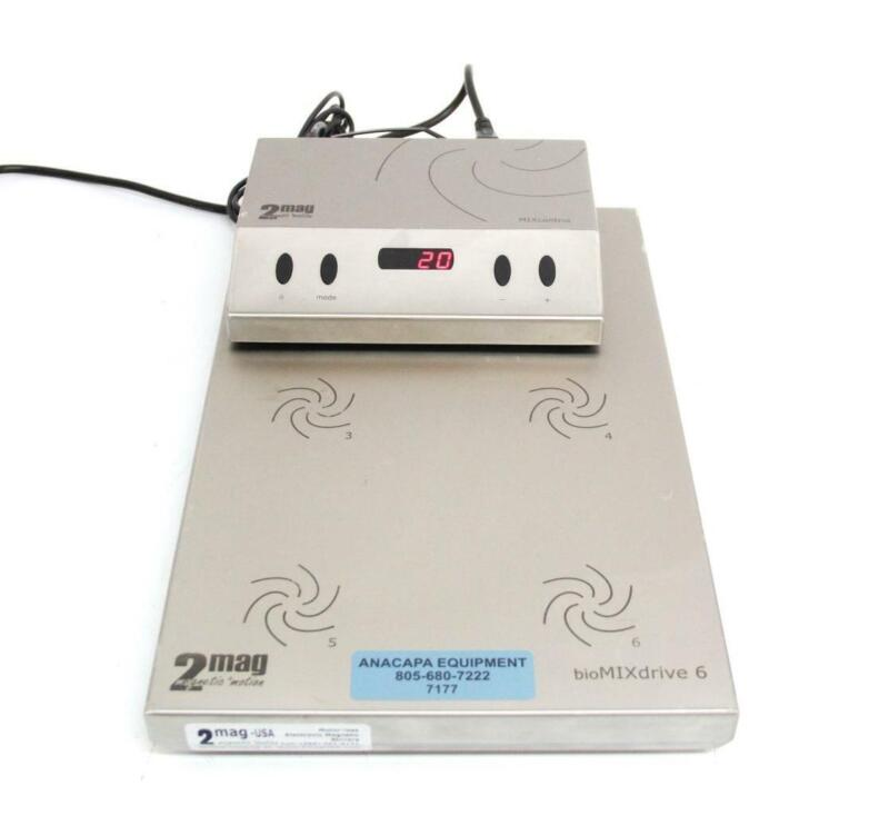 2mag-USA MF90400 BioMixDrive 6  Magnetic Stirrers w/ 98400 Controller (7177)