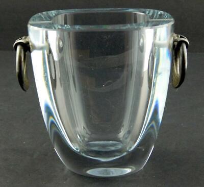 DGH Dansk Guldsmede Handraerk Vessel or Vase Sterling Silver Crystal GOOD COND