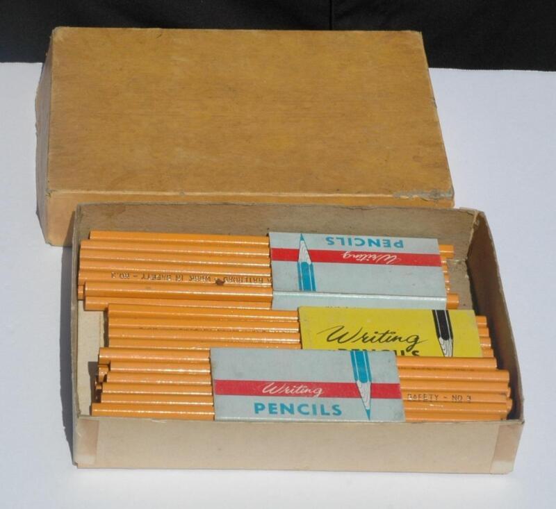 Lot of 48 Pennsylvania Railroad Work In Safety Pencils - Unused in Original Box