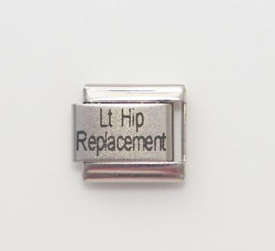 China Italian Charm - Lt Hip Replacement Laser Medical Alert for Italian Charm Bracelets Free Card