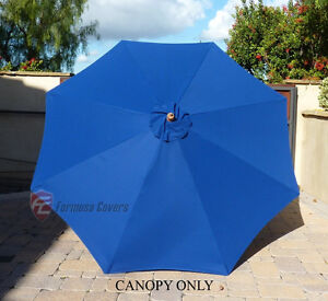9ft Patio Outdoor Yard Umbrella Replacement Canopy Cover Top 8 Ribs Royal Blue & 9 ft Umbrella Replacement Canopy | eBay