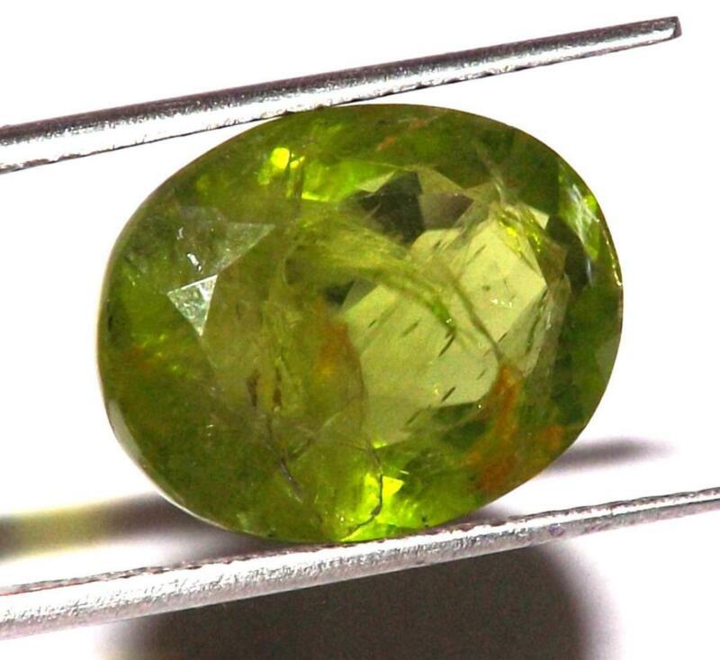 9.20 cts 100% Natural Untreated Green Peridot 14 x 11 mm Gemstone #aprd360