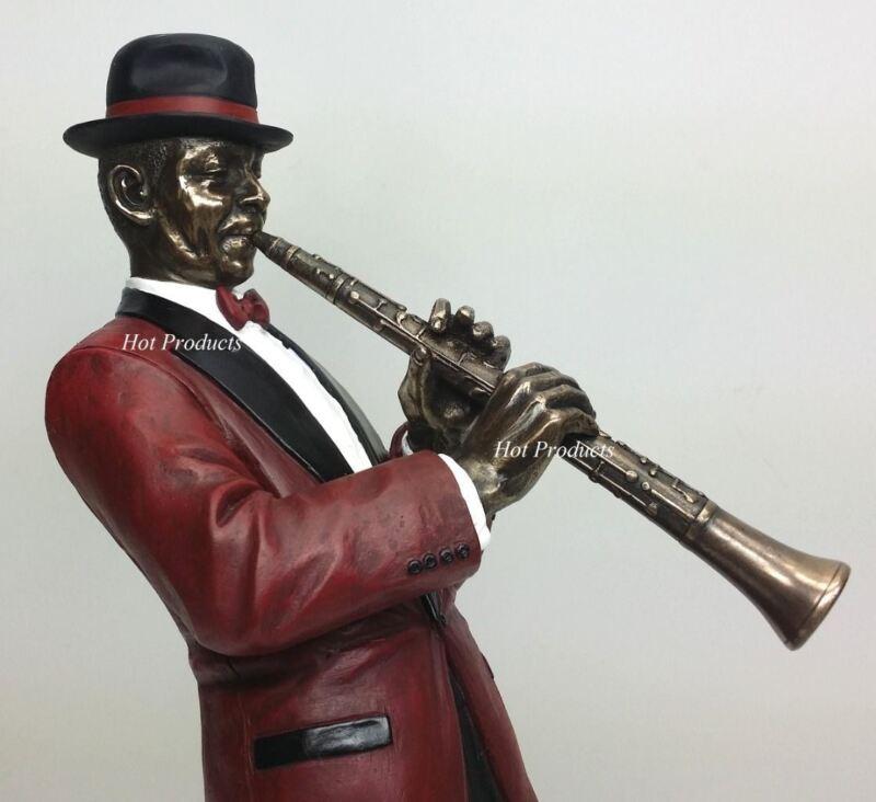 JAZZ BAND COLLECTION - CLARINET PLAYER Home Decor Statue Sculpture Figurine