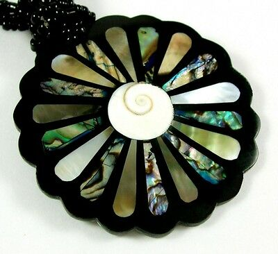 Natural Abalone Shell Mother of Pearl Pendant Beads N0cklace Women Jewelry FA237 for sale  Shipping to Canada