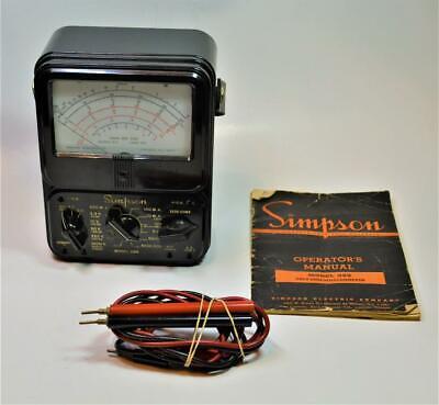 Simpson 260 Volt Ohm Milliammeter Vom Multimeter W Manual Leads For Repairparts