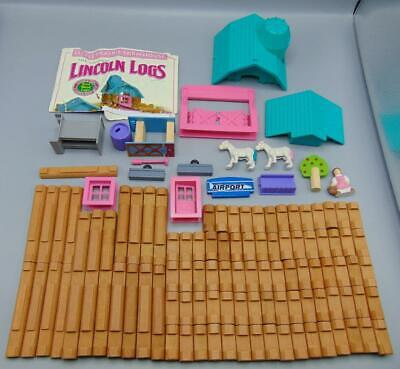 Lot of Lincoln Logs Including Little Prairie Farmhouse Parts and Accessories ...