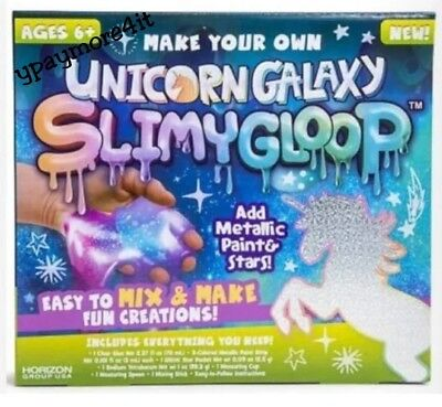 Unicorn Galaxy Metallic SlimyGloop Slime Kids Craft Kit Toy Goop - Slime Kit