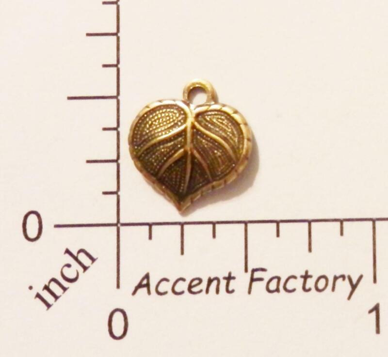 31793      4 Pc Brass Oxidized Leaf Charm Jewelry Finding