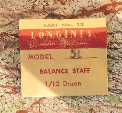 Vintage Longines 5l Vintage Watch Balance Staff Swiss Part Longines Part 13