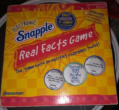 2004 Electronic Snapple Real Facts Game Pressman 500 Fun Facts Bottle -