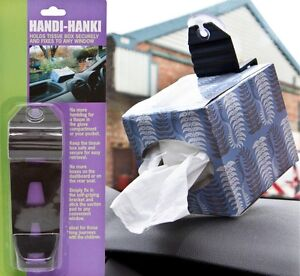 Handy-Hanki-Tissues-Hanky-Box-Holder-With-Windscreen-Suction-Pad-Car-Van-Vehicle