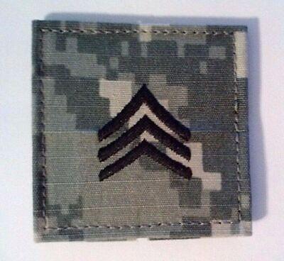 US Army ACU Combat Uniform Rank Insignia Patch/Tab - Sergeant (SGT) E-5