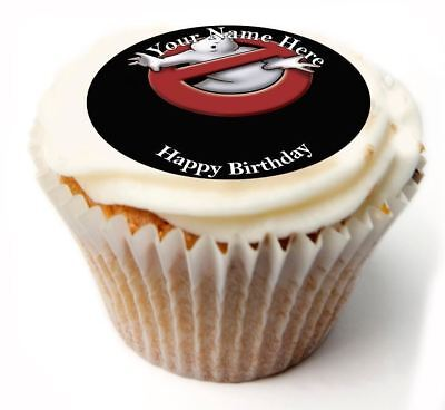 Ghostbusters Cupcake Toppers (Ghostbusters Birthday Cupcake Toppers; x20 Rice Paper or Icing, Personalised. 50)