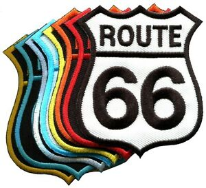 Lot-of-8-Route-66-retro-muscle-cars-60s-americana-USA-appliques-iron-on-patches