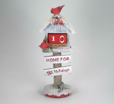 Birdhouse Count Down to Christmas Calendar with Cardinals Home for the Holidays ()