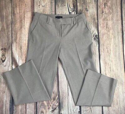 Taupe Wool Blend (Women's Ann Taylor Wool Blend Beige Taupe Trouser Dress Pants Sz 6 Work)