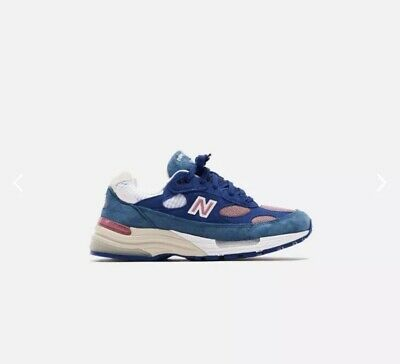 SHIPS TODAY - New Balance 992 Made In USA Blue Green Pink Suede Men's 8.5 M992NT