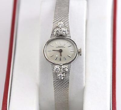 Estate 1960's Ladies Girard Perregaux 14K WG 17J Diamond CT CTW Watch 22.5g Rare