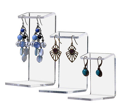 Earring Display Stands Set of 3 Jewelry Counter Holder Earing