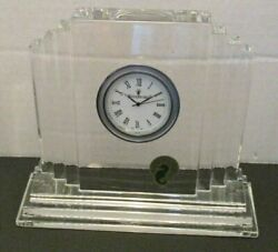 waterford crystal metropolitan clock  H 4 3/4 inches high and 6 inches Long