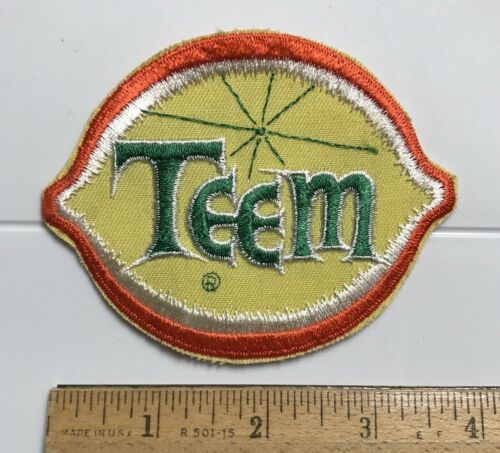 Teem Lemon Lime Soda Pop Drink Beverage Pepsi Cola Company Embroidered Patch