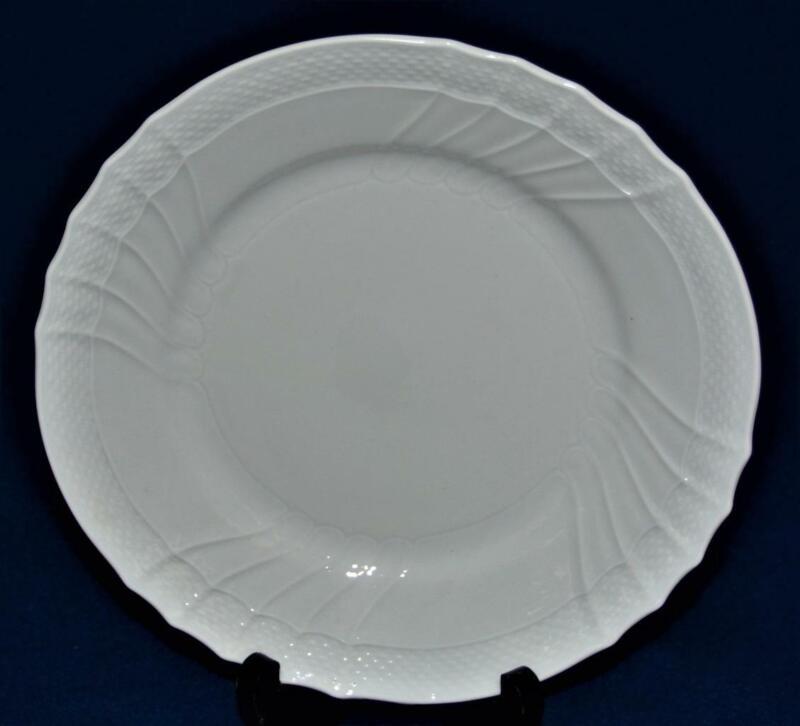 "New RICHARD GINORI China Italy All White BIANCO VECCHIO 10""d Dinner Plate"