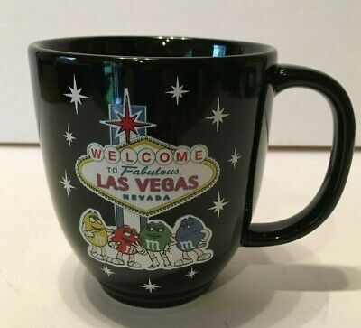 M&M's Candy Welcome To Las Vegas Black Coffee Cup - Black M&m Candy